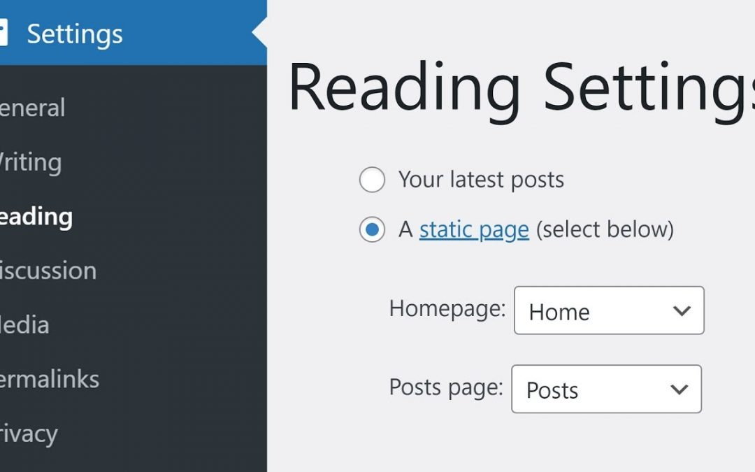 How to Configure Your WordPress Reading Settings