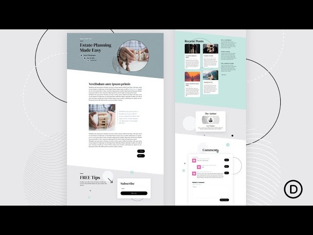 Download a FREE Blog Post Template for Divi's Estate Planning Layout Pack