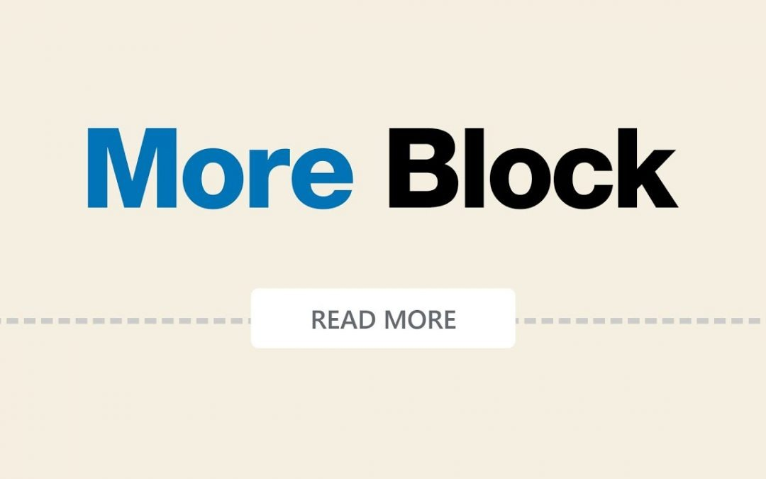 How to Use the WordPress More Block