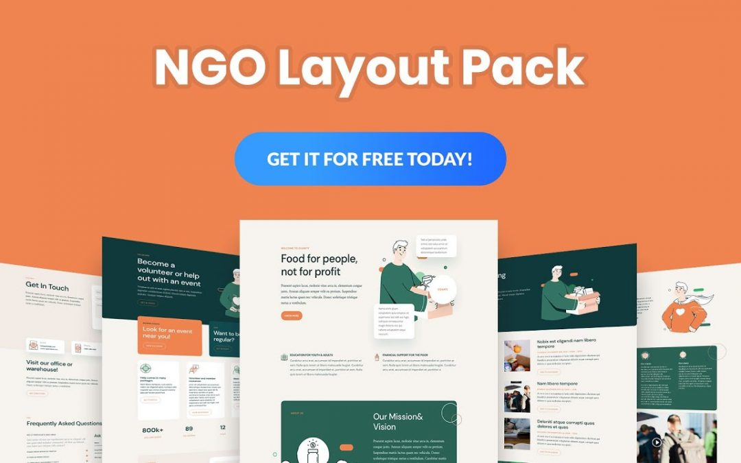 Get a FREE NGO Layout Pack for Divi